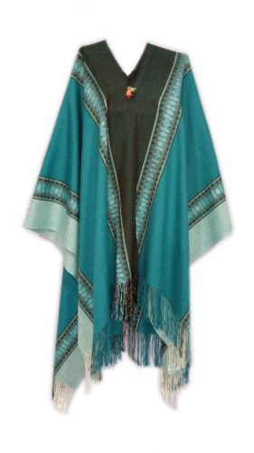 synthetic-wool-long-poncho-with-Andean-watermarks-082