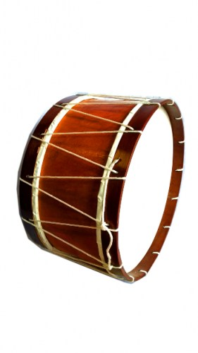 wooden-bass-drum-with-cloth-bow-677